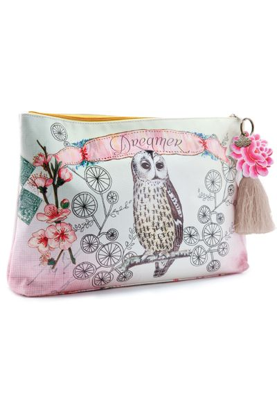 PaPaYa-Art - Accessory Beutel groß - Owl Dreamer