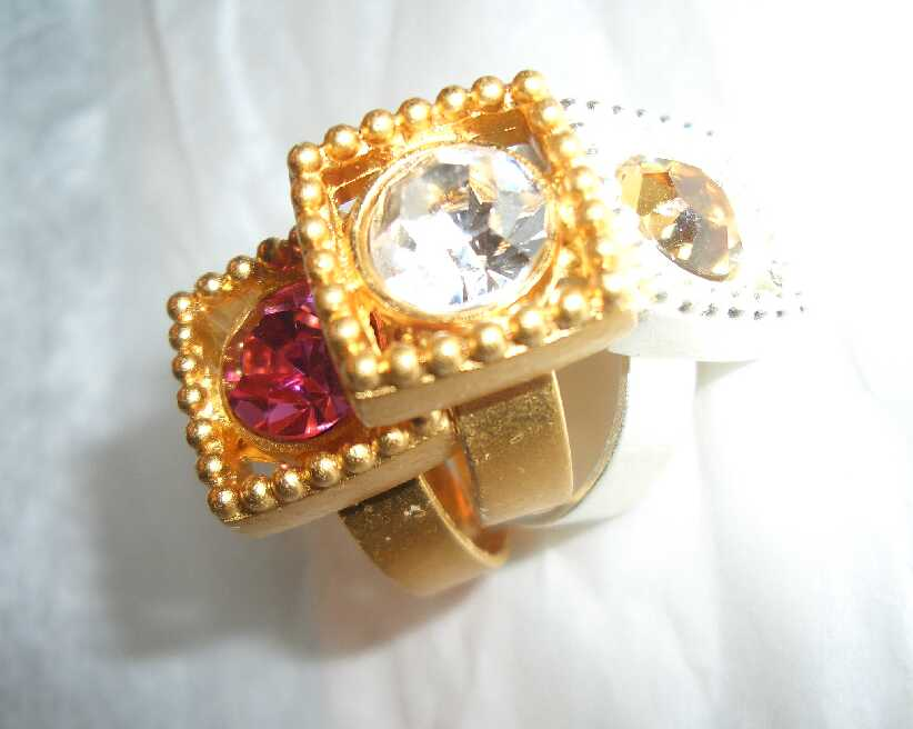 Gubo 'Frame' - Ring mattgold - Rose