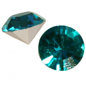 Preciosa - Chaton - Blue Zircon - SS29 - 6mm