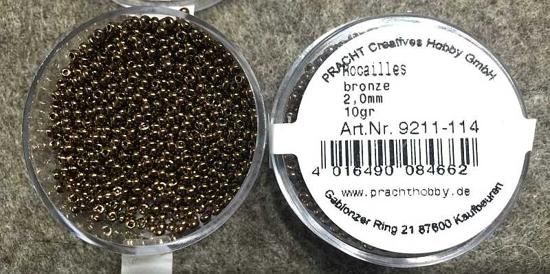 Rocaille 2.0mm Metallic Bronze - 10gr
