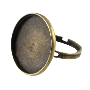 Ring 'Cabochon' - bronze - 20mm