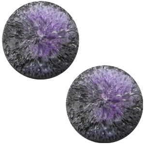 Polariscabochon 'Crushed Ice' - black purple -12mm