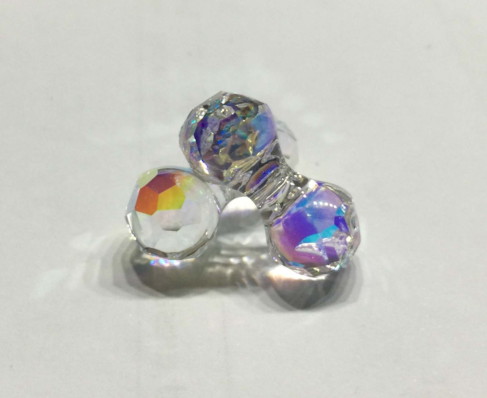 5150 - Modular Bead Crystal AB (001) - 23x11mm (L)