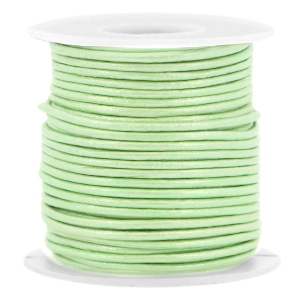 Dünnes Lederband - CrysoliteGreen met. - 1mm - m