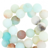 Edelstein-Perle - Amazonite Multicolor Matt - 8mm